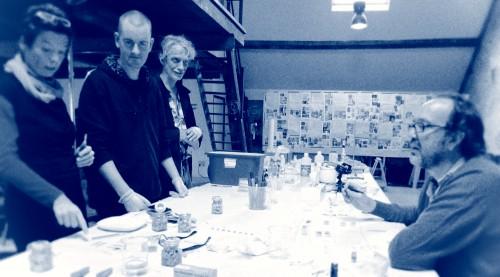 Osallistujia FoAMin työpajassa  Biochymickal Arts (kuva: Riitta Oittinen)