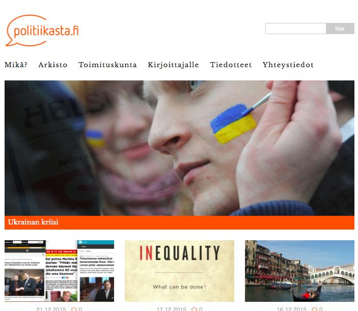 Kuvankaappaus Politiikasta.fi-sivustolta.