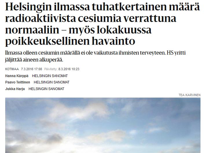 Kuvankaappaus Helsingin Sanomien artikkelista.