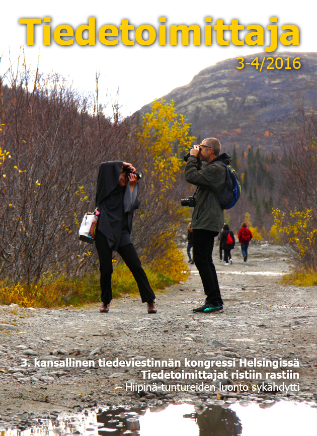 tiedetoimittajan 2016 3-4 kansi
