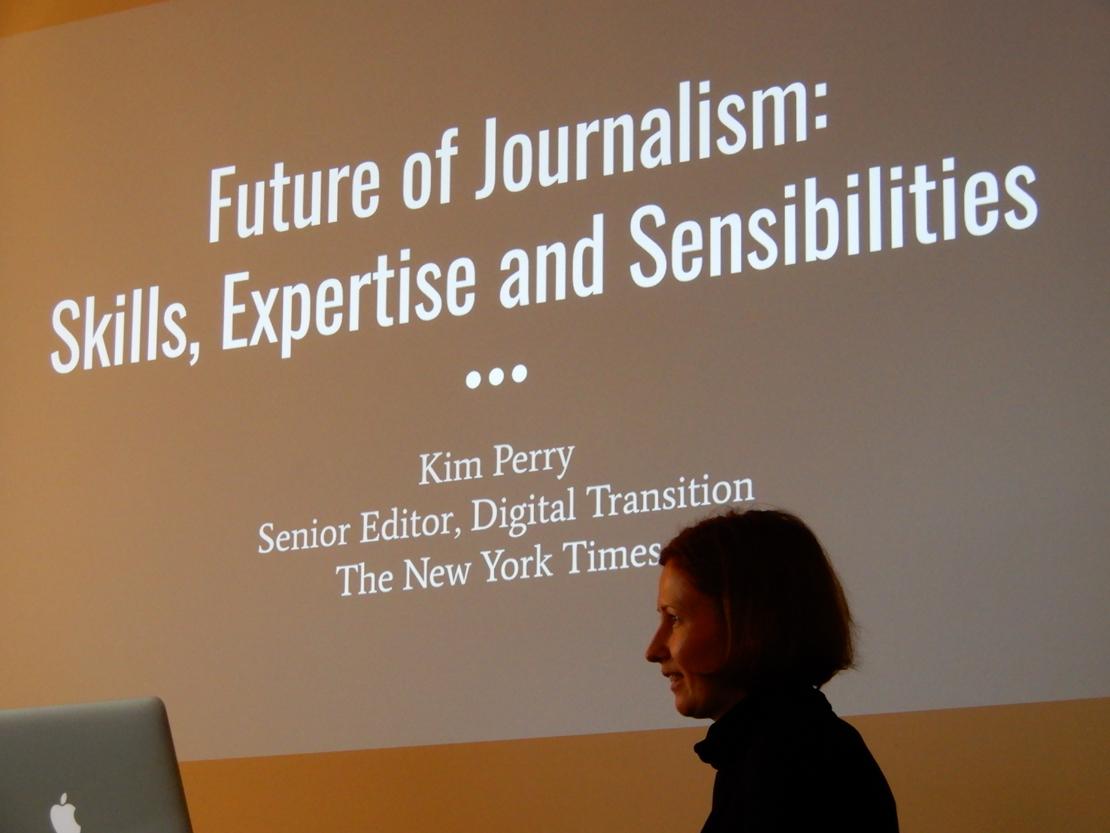 The New York Times on jo löytänyt oman tapansa tuottaa digiajan sisältöjä ja lisätä digitaalisten tuotteiden tilaajakuntaa, toimittajia uusiin työskentelytapoihin kouluttava Kim Perry sanoo.