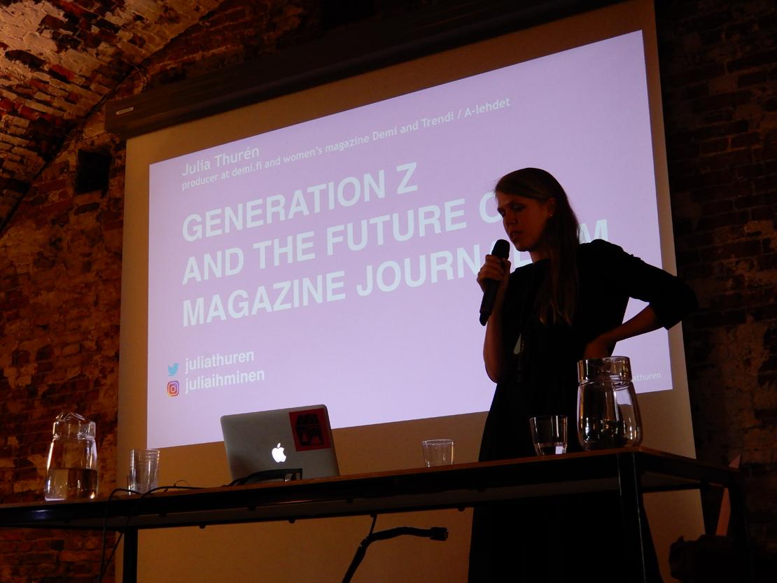 A-lehtien Demi ja Trendi kuuntelevat herkällä korvalla nuoria lukijoitaan ja tarjoavat vuorovaikutusmahdollisuuksia somen puolella. Julia Thurén on kerännyt aineistoa nuorten naisten median käyttötavoista.